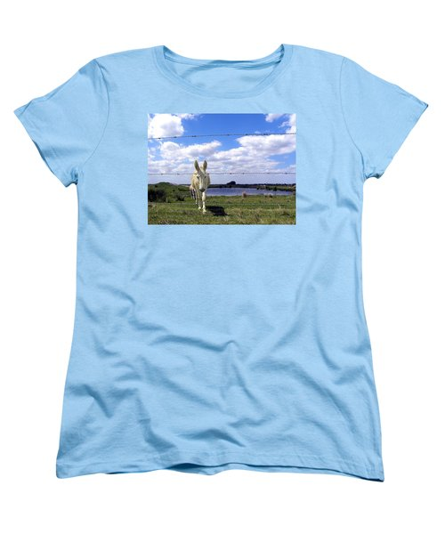 Women's T-Shirt (Standard Cut) featuring the photograph Don't Fence Me In 002 by Chris Mercer