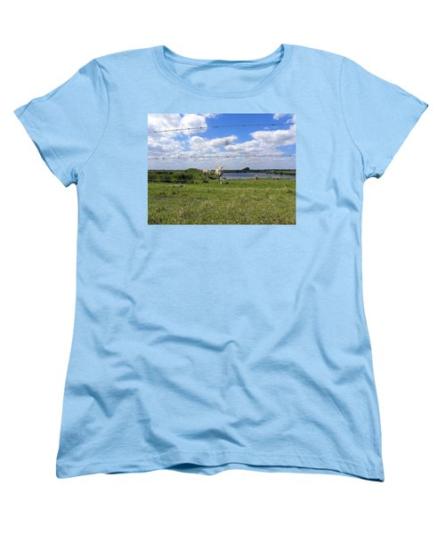 Women's T-Shirt (Standard Cut) featuring the photograph Don't Fence Me In by Chris Mercer