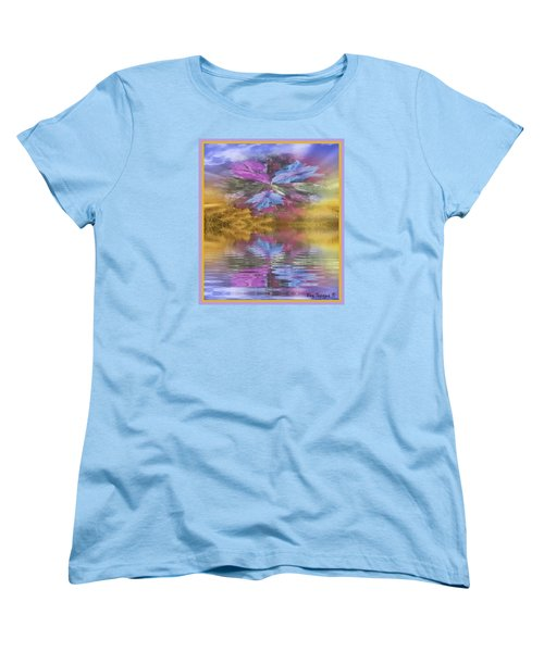 Women's T-Shirt (Standard Cut) featuring the mixed media Dont Go Away by Ray Tapajna