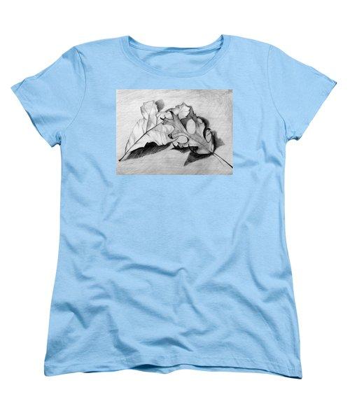 Don't Leaf Me Women's T-Shirt (Standard Cut) by Jean Haynes