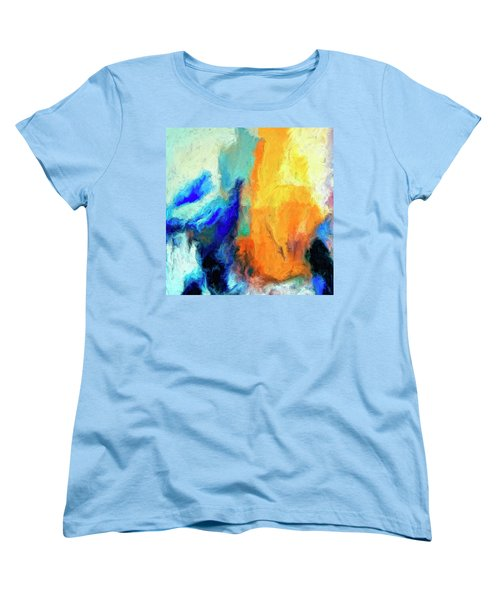 Women's T-Shirt (Standard Cut) featuring the painting Don't Look Down by Dominic Piperata