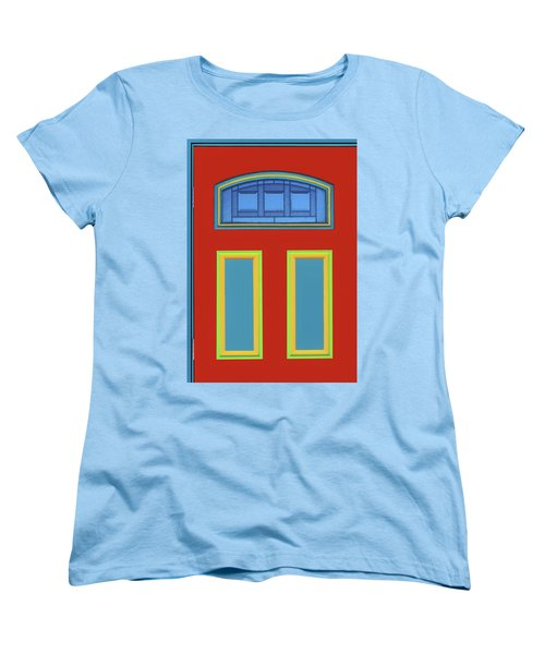 Door - Primary Colors Women's T-Shirt (Standard Cut) by Nikolyn McDonald