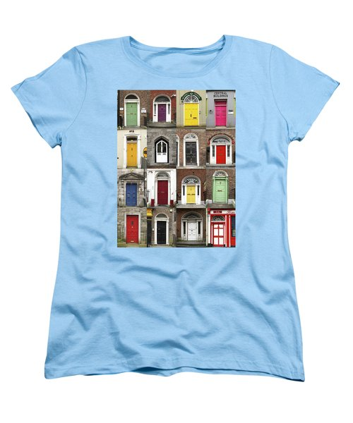 Women's T-Shirt (Standard Cut) featuring the photograph Doors Of Limerick by Marie Leslie