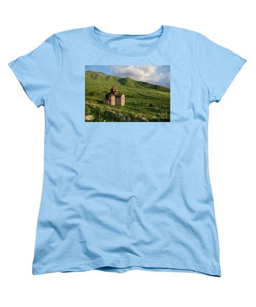 Dorband Monastery In The Field, Armenia Women's T-Shirt (Standard Cut) by Gurgen Bakhshetsyan