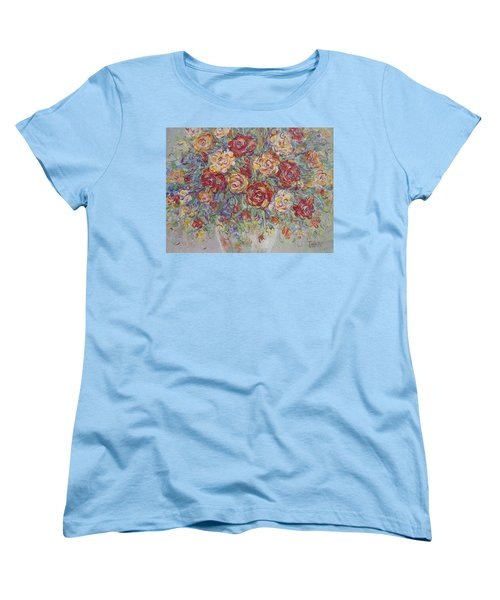Women's T-Shirt (Standard Cut) featuring the painting Double Delight. by Natalie Holland