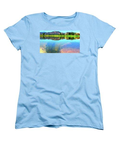 Doughnut Lake Women's T-Shirt (Standard Cut) by Eric Dee