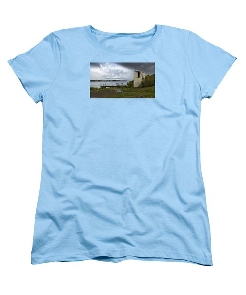 Women's T-Shirt (Standard Cut) featuring the photograph Down By The River 01 by Kevin Chippindall