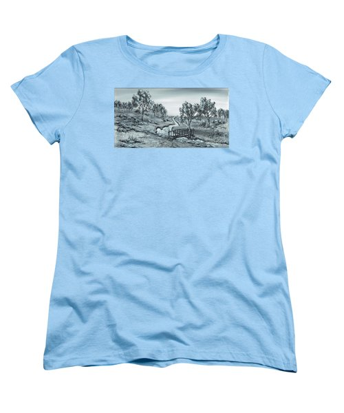 Down Stream Women's T-Shirt (Standard Cut) by Kenneth Clarke