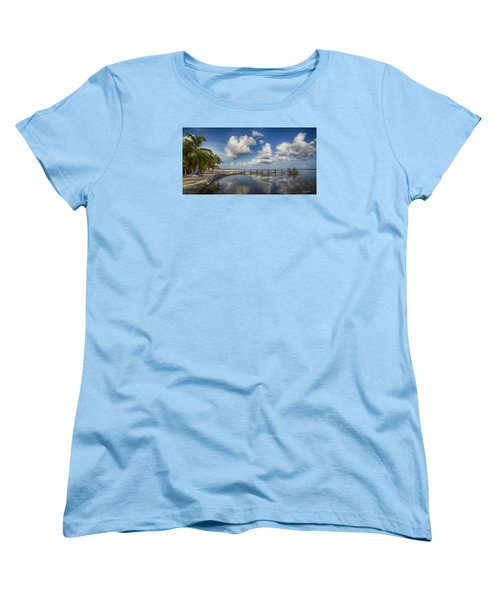 Women's T-Shirt (Standard Cut) featuring the photograph Down The Shore by Don Durfee