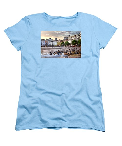 Downtown Lisbon Women's T-Shirt (Standard Cut) by Carlos Caetano