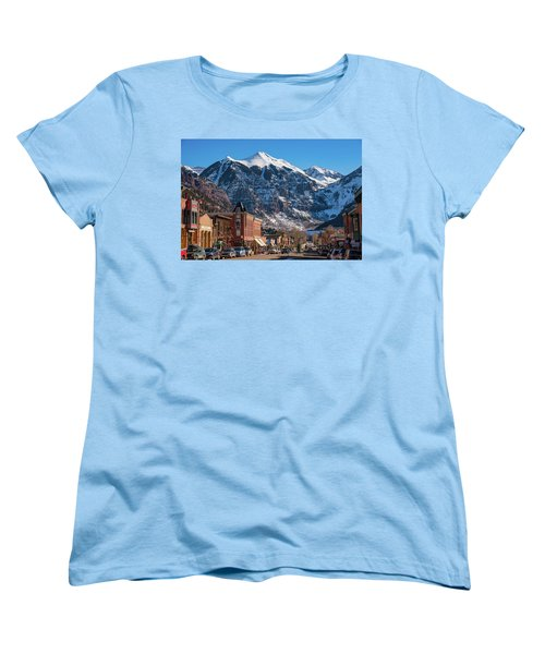 Downtown Telluride Women's T-Shirt (Standard Cut) by Darren White