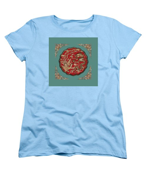 Dragon And Phoenix Women's T-Shirt (Standard Cut) by Kristin Elmquist