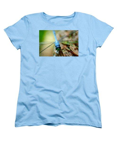 Dragonfly Closeup Women's T-Shirt (Standard Cut) by Shelley Overton