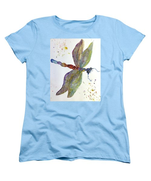 Dragonfly Women's T-Shirt (Standard Cut) by Lucia Grilletto