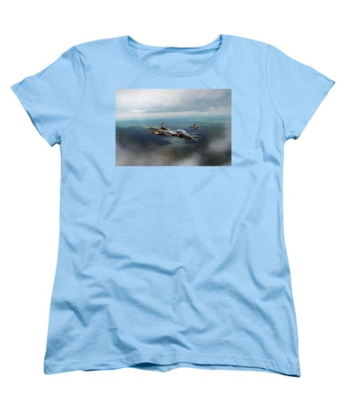 Women's T-Shirt (Standard Cut) featuring the digital art Dragonfly Special Operations by Peter Chilelli