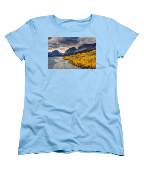 Women's T-Shirt (Standard Cut) featuring the photograph Dramatic Sunset Sky In Autumn  by Pierre Leclerc Photography