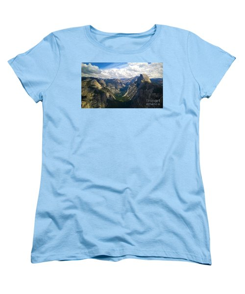 Women's T-Shirt (Standard Cut) featuring the photograph Dramatic Yosemite Half Dome by Debra Thompson