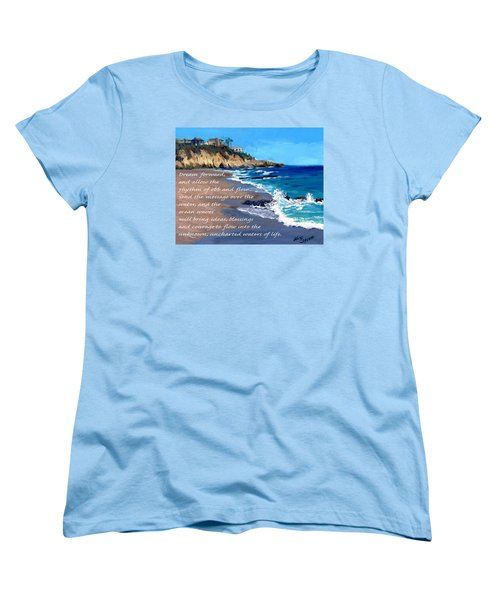 Dream Forward Women's T-Shirt (Standard Cut) by Alice Leggett