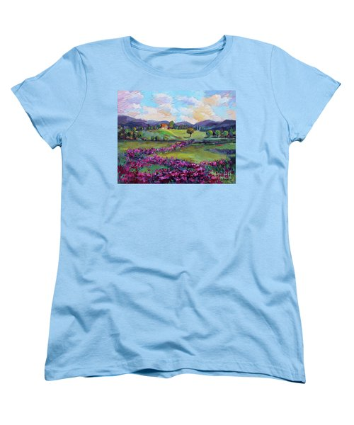 Women's T-Shirt (Standard Cut) featuring the painting Dream In Color by Jennifer Beaudet
