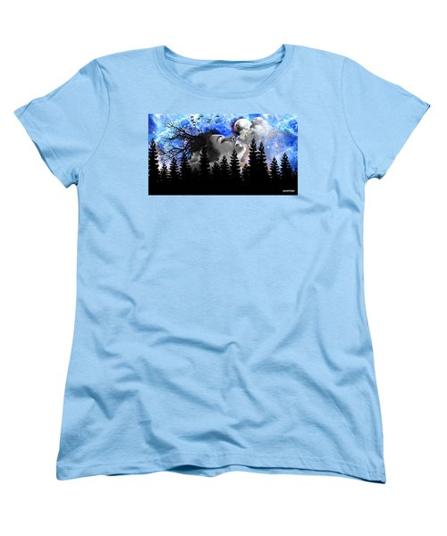 Dream Is The Space To Fly Farther Women's T-Shirt (Standard Cut) by Paulo Zerbato