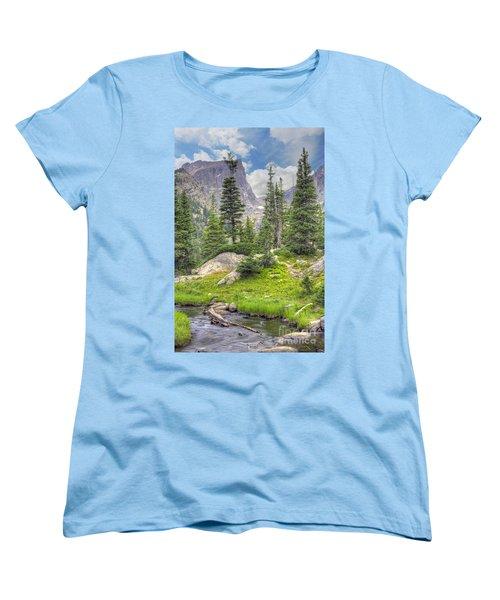 Dream Lake Women's T-Shirt (Standard Cut) by Juli Scalzi