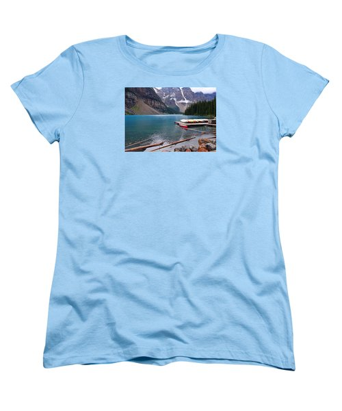 Moraine Lake, Ab  Women's T-Shirt (Standard Cut) by Heather Vopni