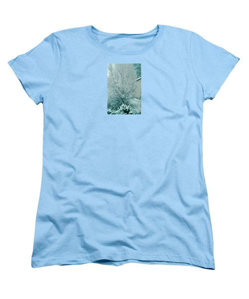Women's T-Shirt (Standard Cut) featuring the photograph Dreaming Of A White Christmas - Winter In Switzerland by Susanne Van Hulst