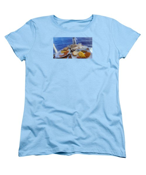 Women's T-Shirt (Standard Cut) featuring the photograph Dreaming Of Breakfast At Sea by DigiArt Diaries by Vicky B Fuller
