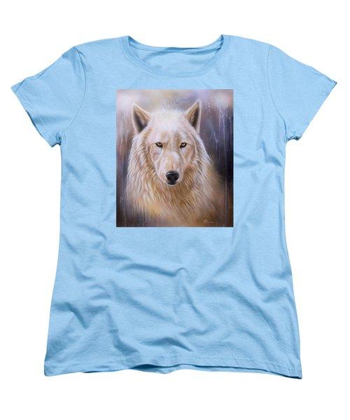 Dreamscape Wolf IIi Women's T-Shirt (Standard Cut) by Sandi Baker