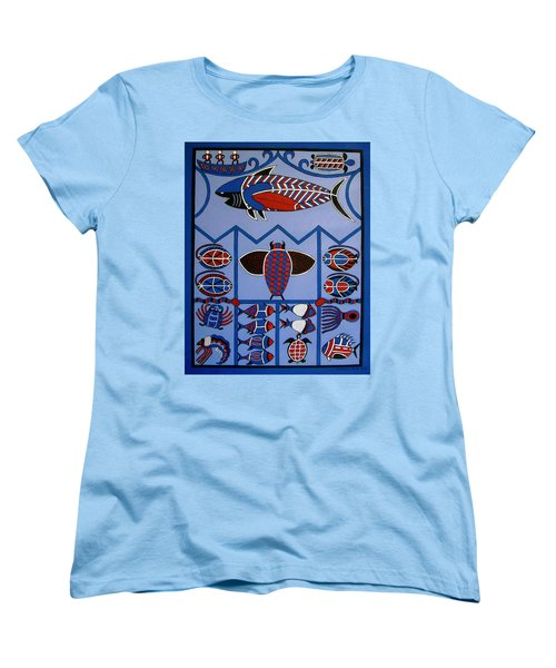 Women's T-Shirt (Standard Cut) featuring the painting Dreamtime by Stephanie Moore