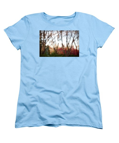 Women's T-Shirt (Standard Cut) featuring the photograph Dreamy Fall Colors by Susan Stone