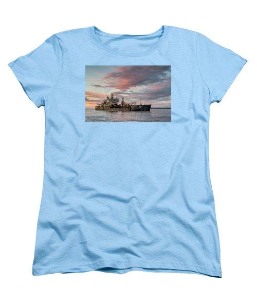 Women's T-Shirt (Standard Cut) featuring the photograph Dredging Ship by Greg Nyquist