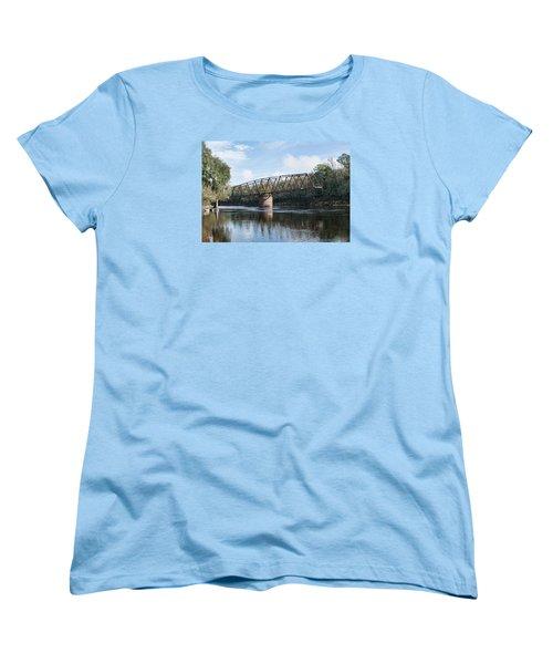 Drew Bridge Women's T-Shirt (Standard Cut) by John Black