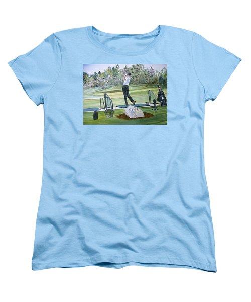 Driving Pine Hills Women's T-Shirt (Standard Cut) by P Anthony Visco
