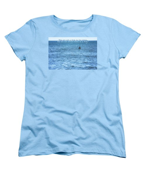 Drop In The Ocean Surfer  Women's T-Shirt (Standard Cut) by Terry DeLuco