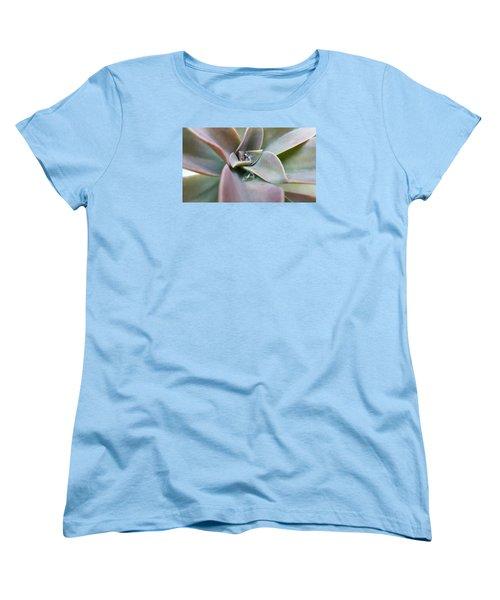 Droplets On Succulent Women's T-Shirt (Standard Cut) by Ian Kowalski