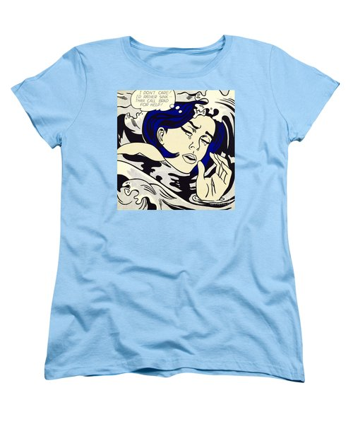 Drowning Girl Women's T-Shirt (Standard Cut) by Roy Lichtenstein