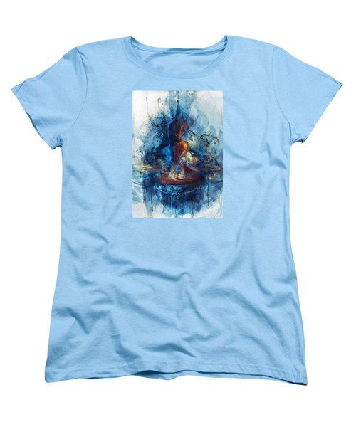 Women's T-Shirt (Standard Cut) featuring the digital art Drum by Te Hu