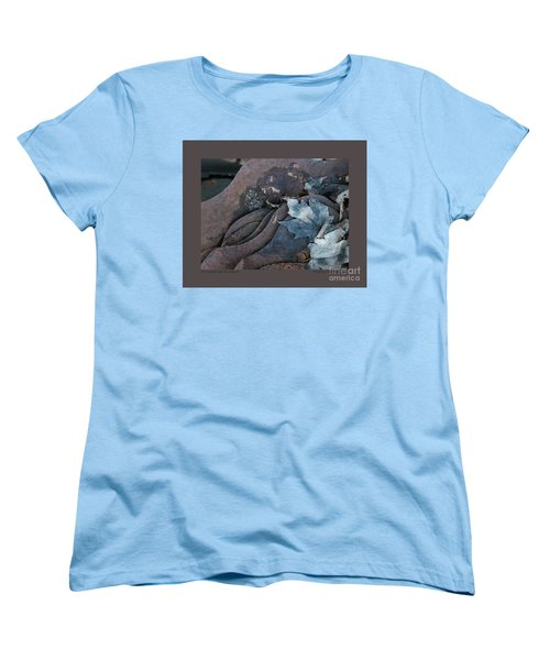 Dry Leaves And Old Steel-ix Women's T-Shirt (Standard Cut) by Patricia Overmoyer