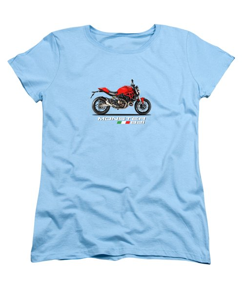 Ducati Monster 821 Women's T-Shirt (Standard Cut) by Mark Rogan