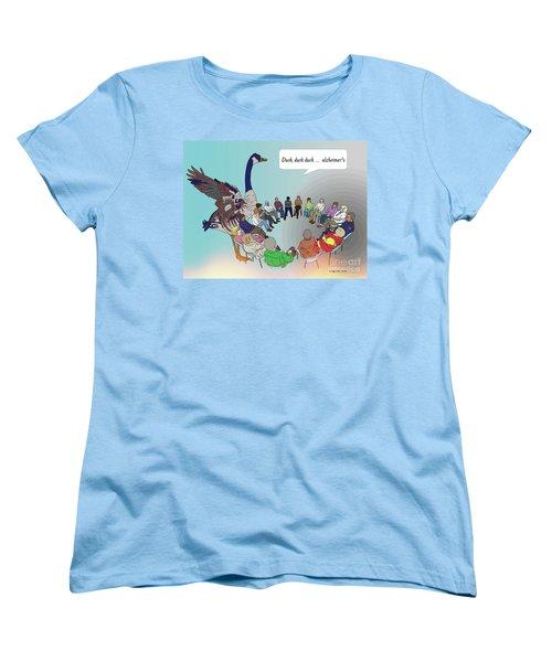 Duck, Duck, Alzheimers Women's T-Shirt (Standard Cut) by Megan Dirsa-DuBois