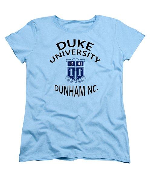 Duke University Dunham N C  Women's T-Shirt (Standard Cut) by Movie Poster Prints