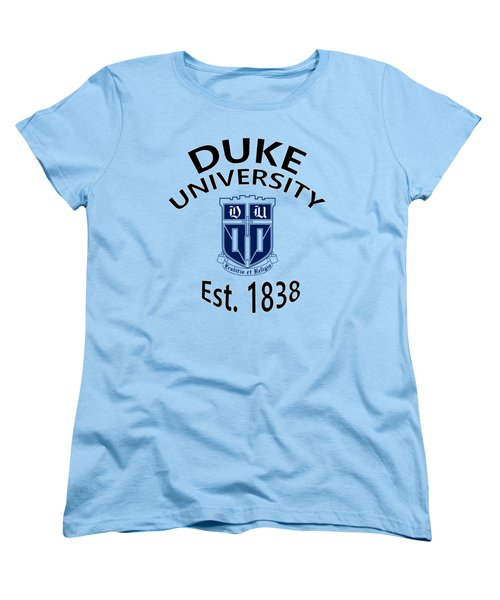 Duke University Est 1838 Women's T-Shirt (Standard Cut) by Movie Poster Prints