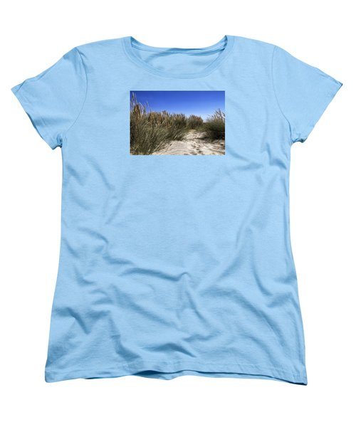 Women's T-Shirt (Standard Cut) featuring the photograph Dune Grasses by Shirley Mitchell