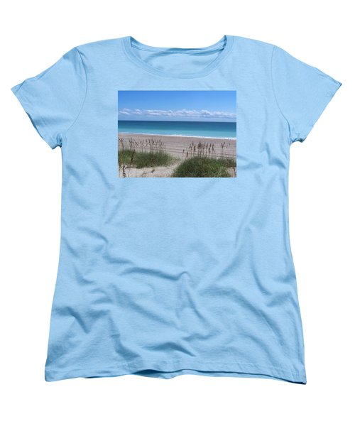 Women's T-Shirt (Standard Cut) featuring the photograph Dunes On The Outerbanks by Sandi OReilly
