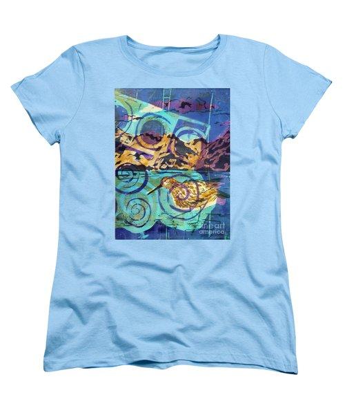 Dunlin On Mudflats Women's T-Shirt (Standard Cut) by Cynthia Lagoudakis