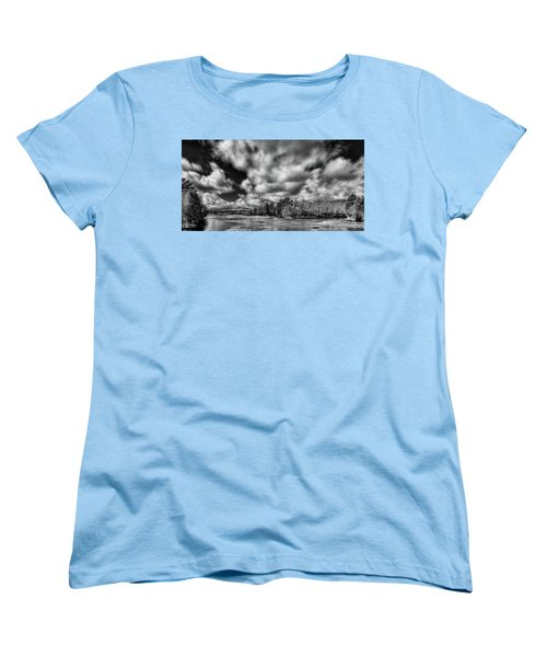 Women's T-Shirt (Standard Cut) featuring the photograph Dusting Of Snow On The River by David Patterson
