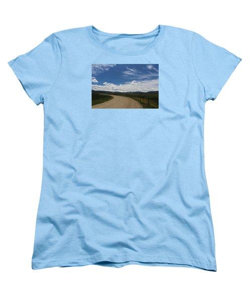 Dusty  Road Women's T-Shirt (Standard Cut) by Suzanne Lorenz