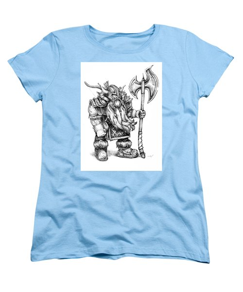 Women's T-Shirt (Standard Cut) featuring the drawing Dwarf by Aaron Spong