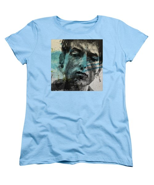 Dylan - Retro  Maggies Farm No More Women's T-Shirt (Standard Cut) by Paul Lovering